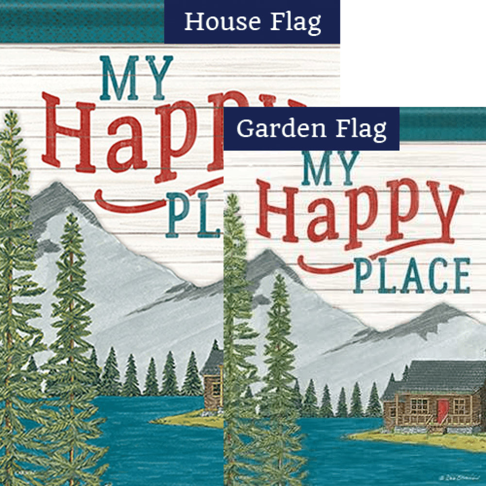 My Happy Place Double Sided Flags Set (2 Pieces)