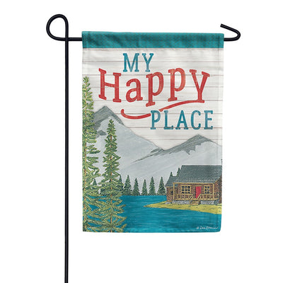 My Happy Place Double Sided Garden Flag