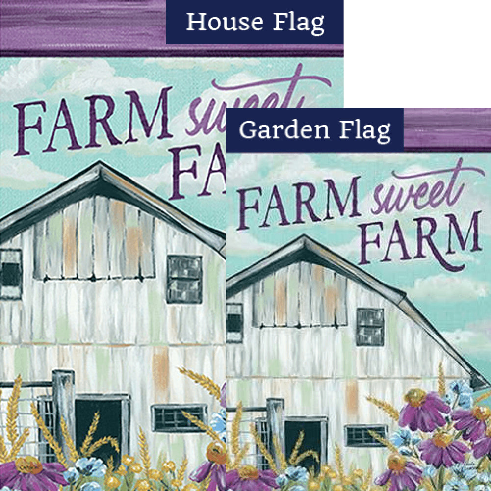 Floral Barn Double Sided Flags Set (2 Pieces)