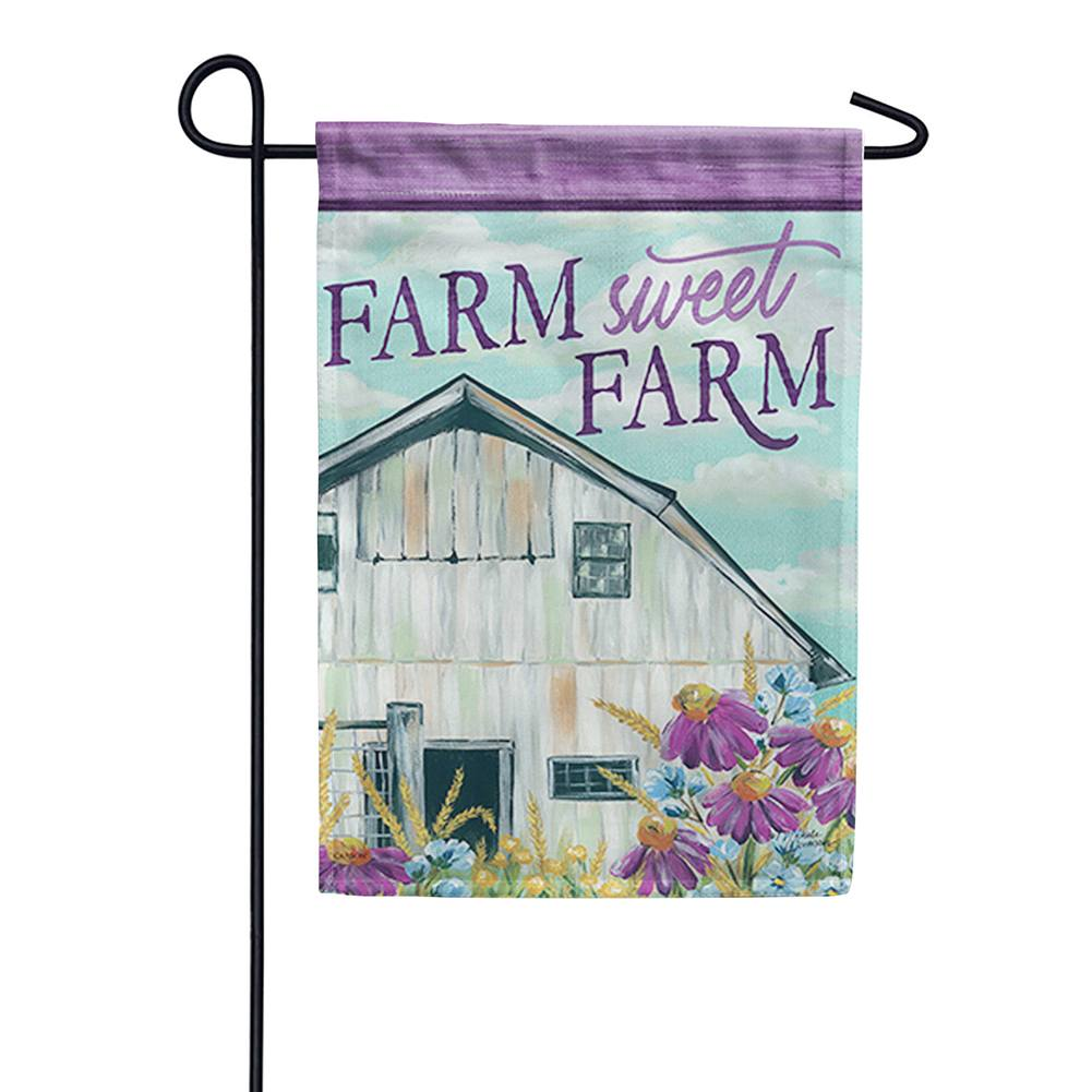 Floral Barn Double Sided Garden Flag