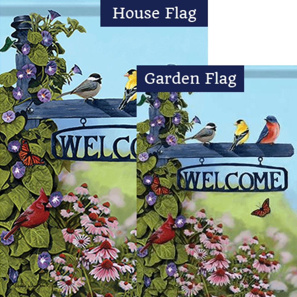 Welcome Post Double Sided Flags Set (2 Pieces)
