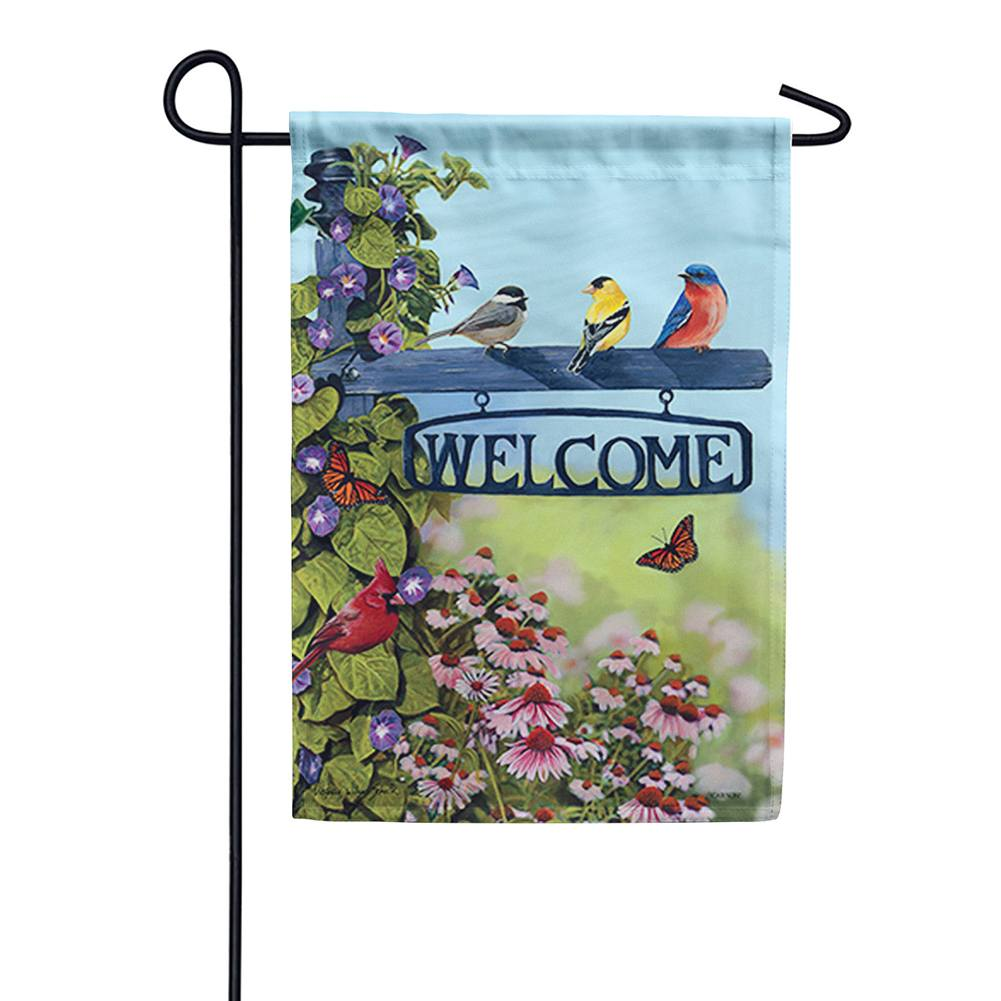 Welcome Post Double Sided Garden Flag