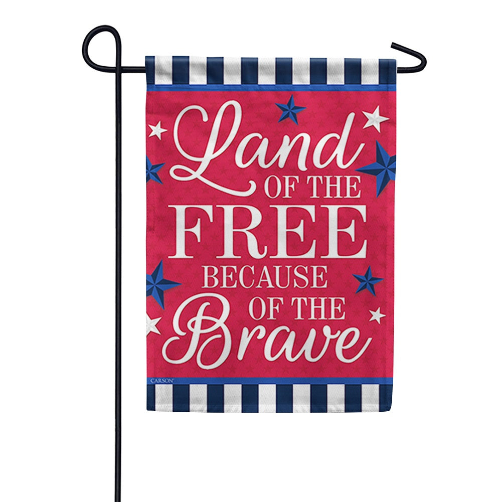 Land Of The Free Because Of The Brave Double Sided Garden Flag