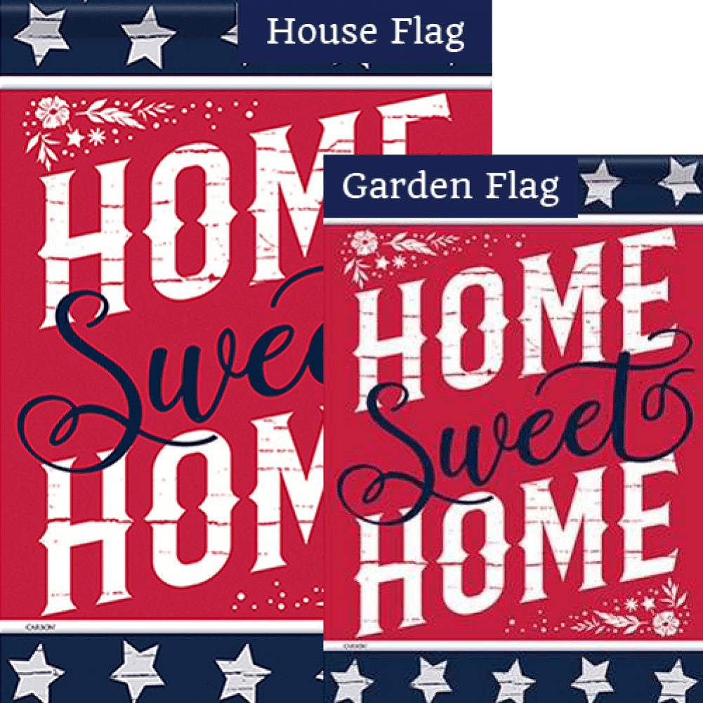 Home Is Sweet Home Double Sided Flags Set (2 Pieces)
