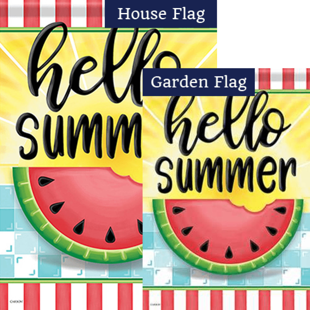 Hello Sweet Summer Double Sided Flags Set (2 Pieces)