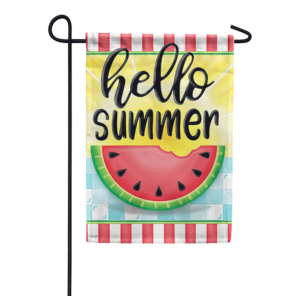 Hello Sweet Summer Double Sided Garden Flag