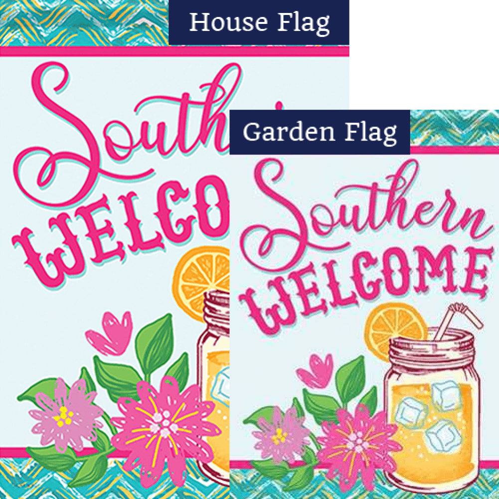 Southern Sweet Tea Double Sided Flags Set (2 Pieces)