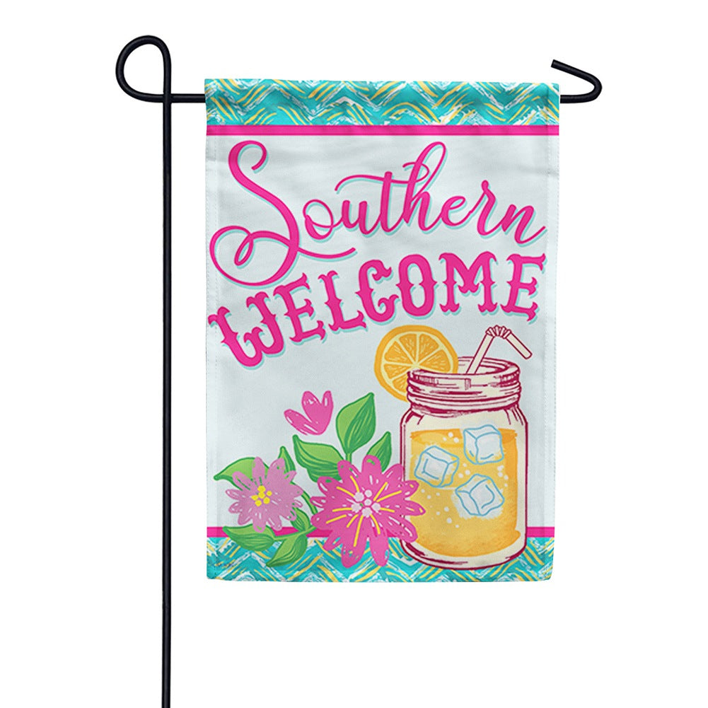 Southern Sweet Tea Double Sided Garden Flag