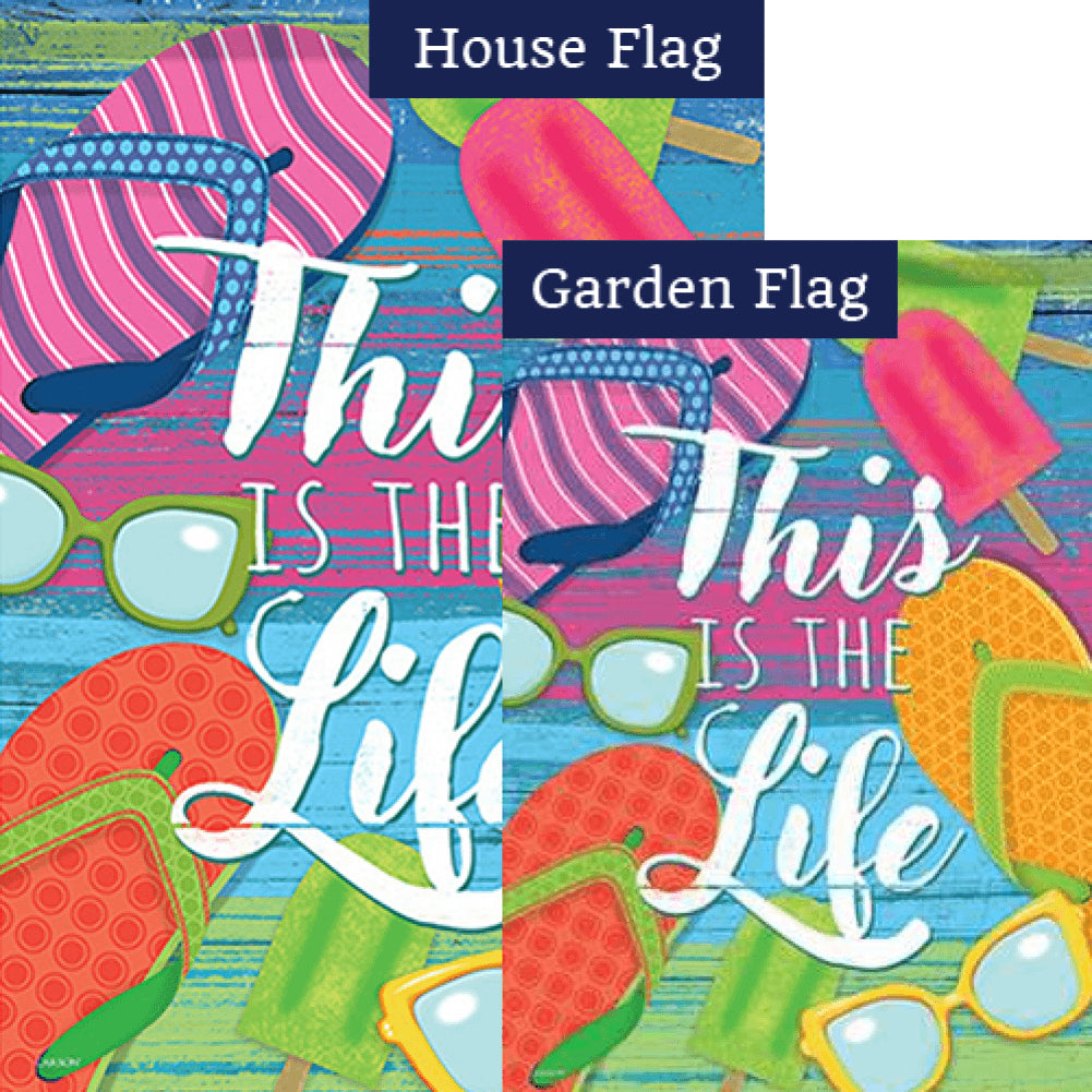 This Is The Life Double Sided Flags Set (2 Pieces)