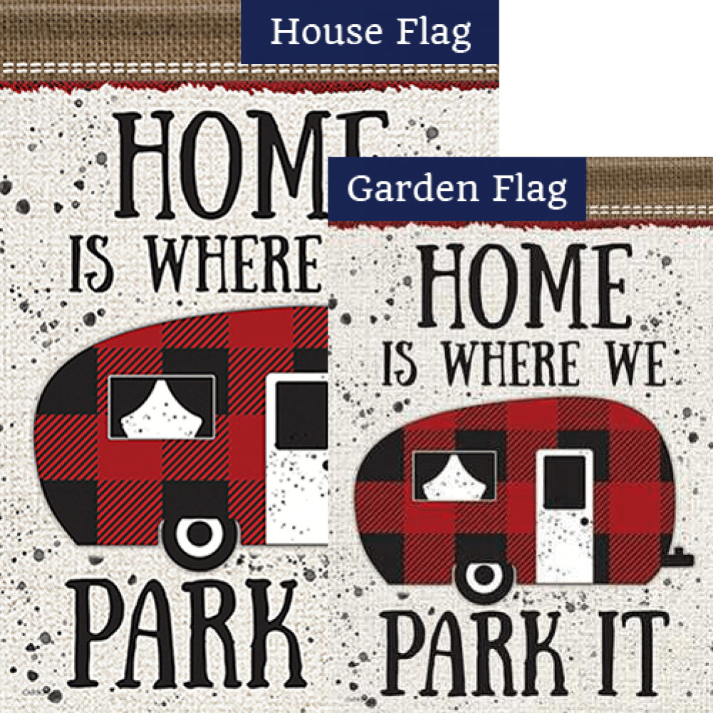 Where We Park It Double Sided Flags Set (2 Pieces)