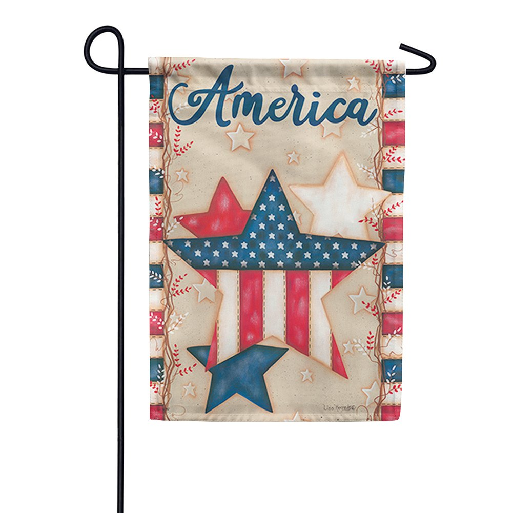 American Stars Double Sided Garden Flag