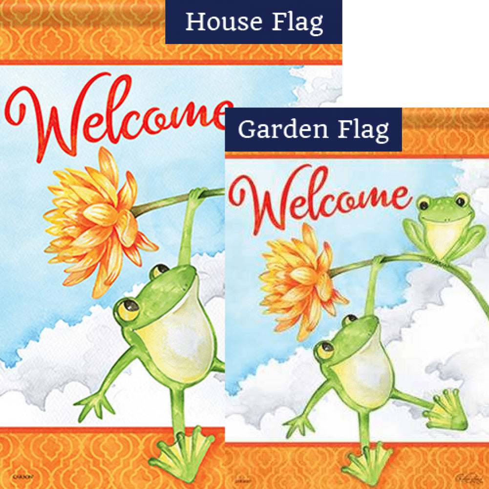Frog Fun Double Sided Flags Set (2 Pieces)