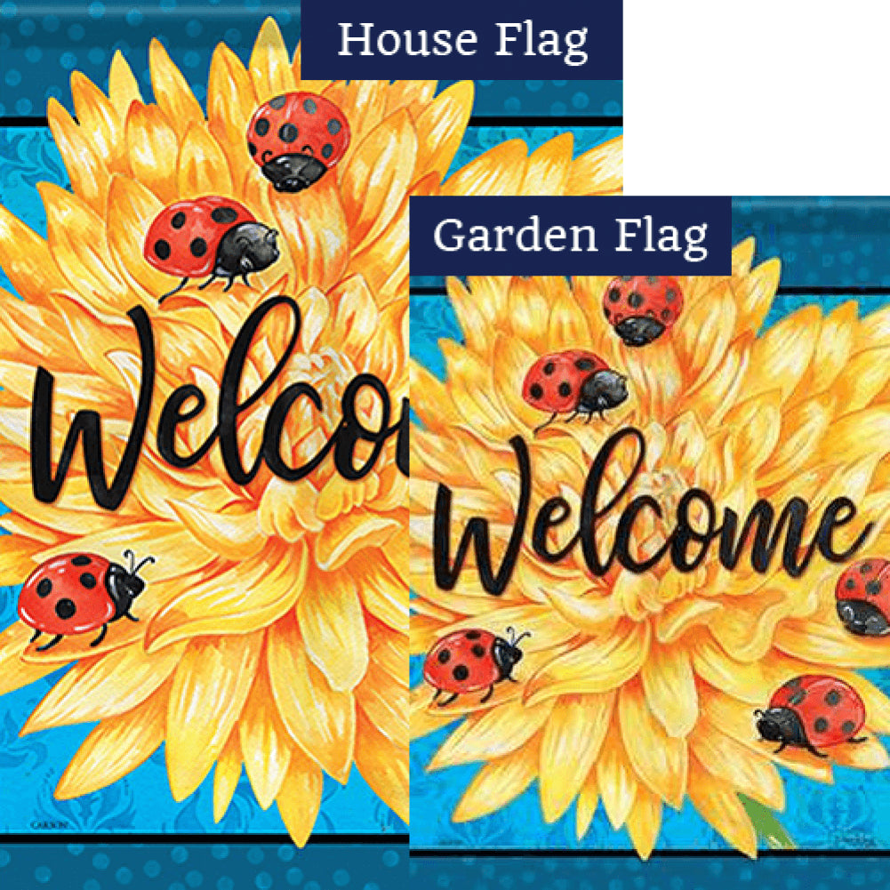 Ladybug Life Welcome Double Sided Flags Set (2 Pieces)