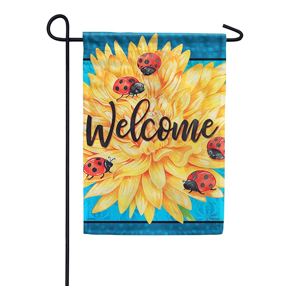 Ladybug Life Welcome Double Sided Garden Flag