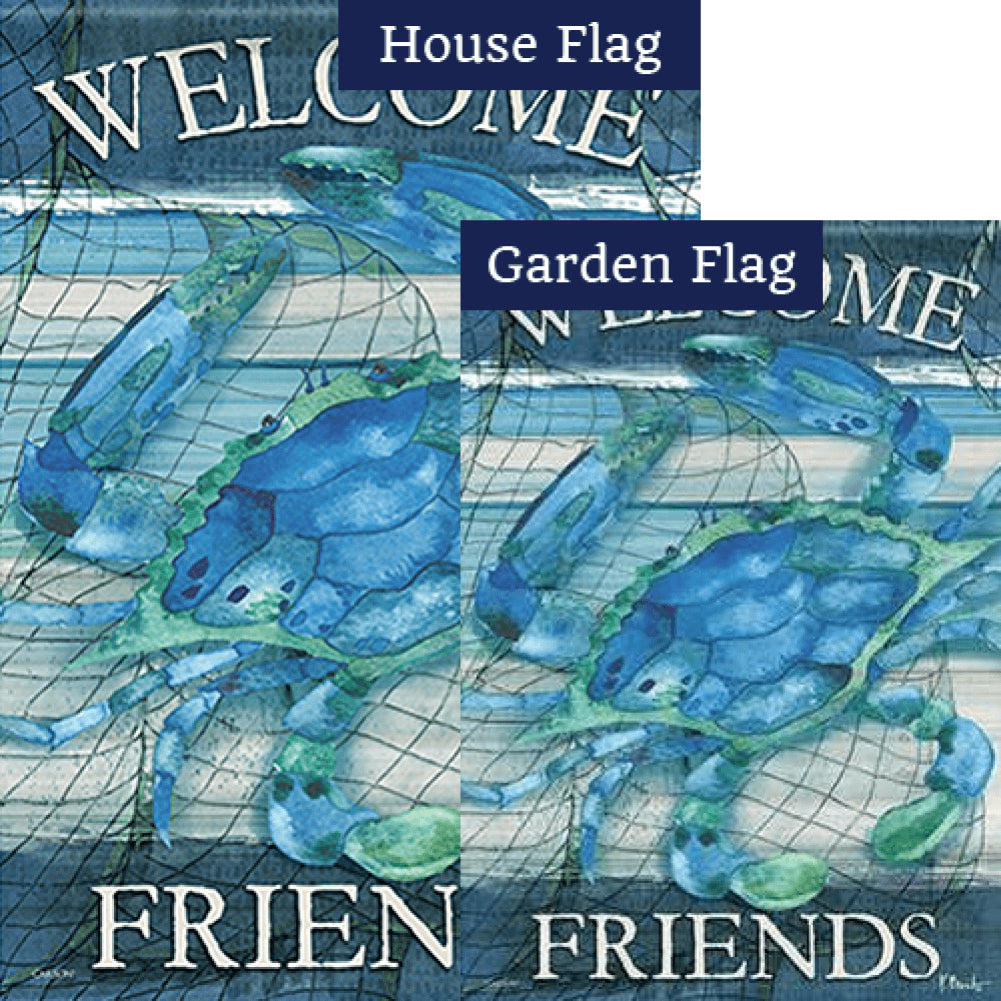 Blue Crab Double Sided Flags Set (2 Pieces)