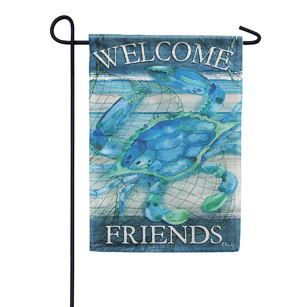 Blue Crab Double Sided Garden Flag