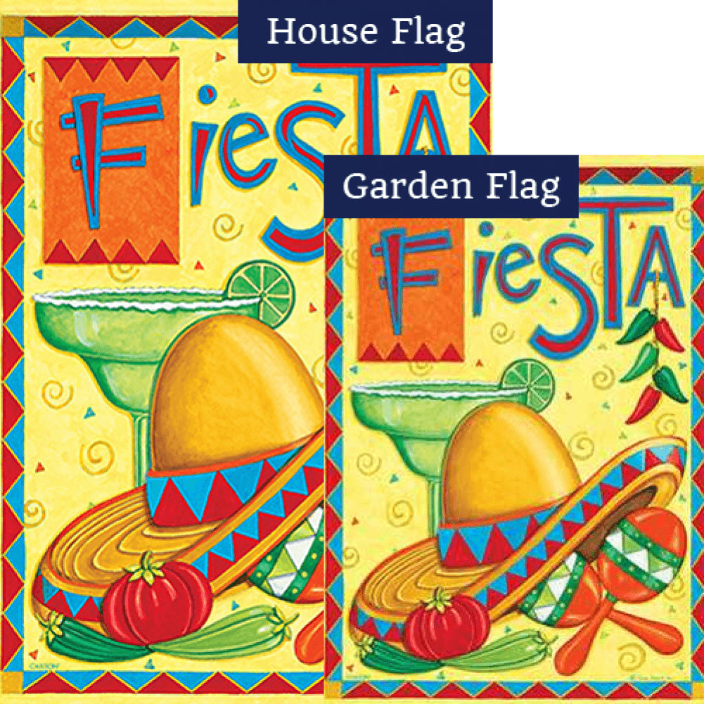 Fiesta Party Double Sided Flags Set (2 Pieces)