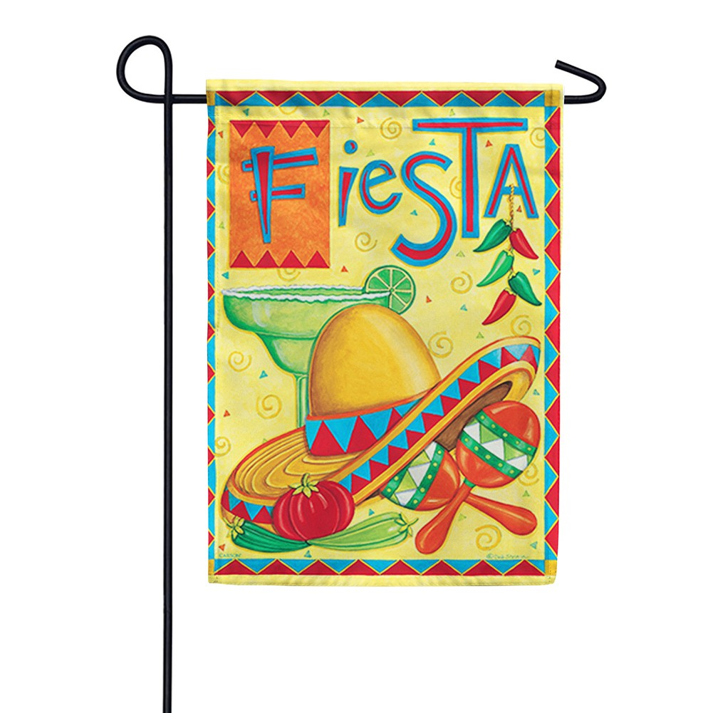 Fiesta Party Double Sided Garden Flag