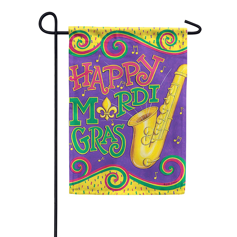 Mardi Gras Sounds Double Sided Garden Flag