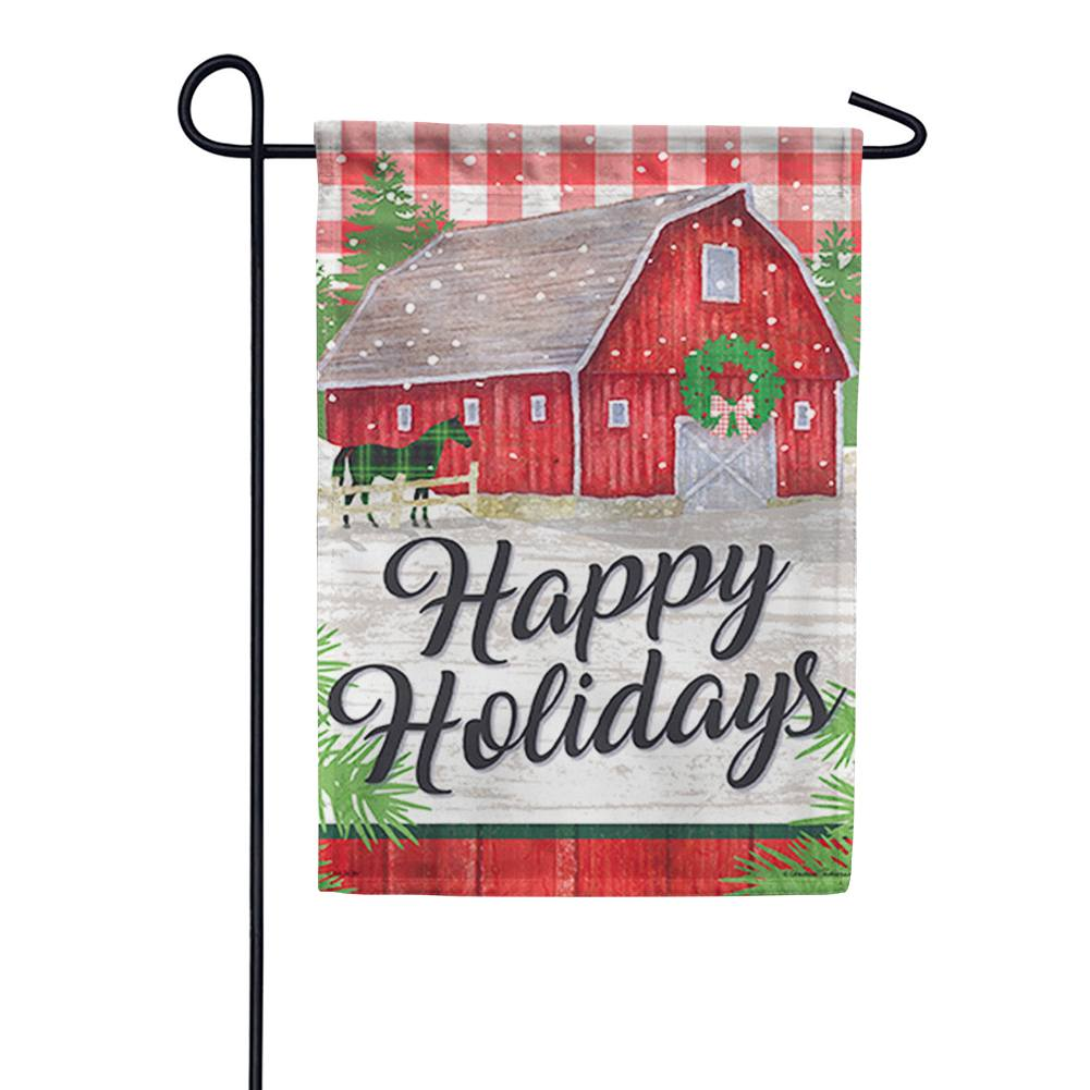 Farm Holiday Garden Flag