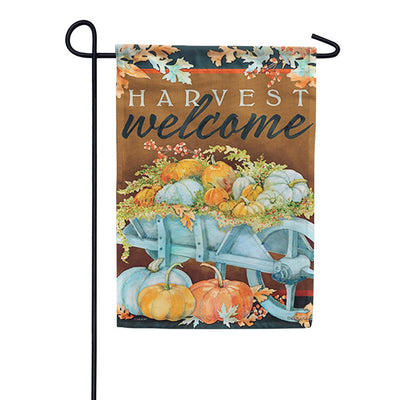 Harvest Wheelbarrow Garden Flag