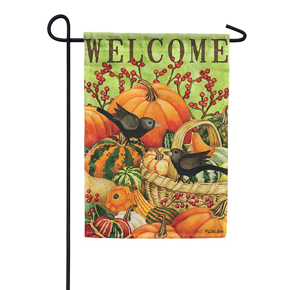 Birds & Gourds Garden Flag