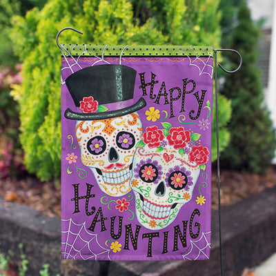 Happily Haunting Glitter Trends Garden Flag