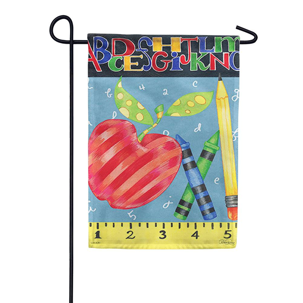 #1 Teacher Garden Flag