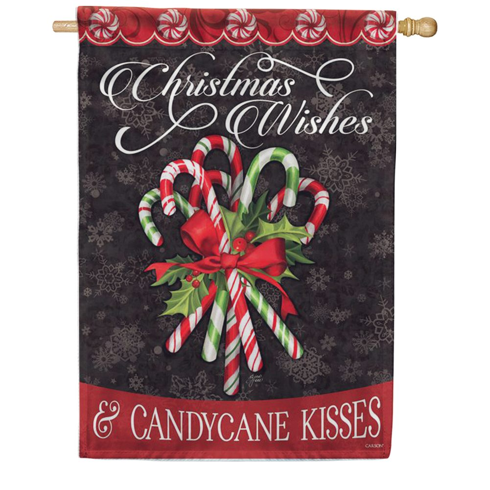 Candy Cane Bouquet Double Sided House Flag