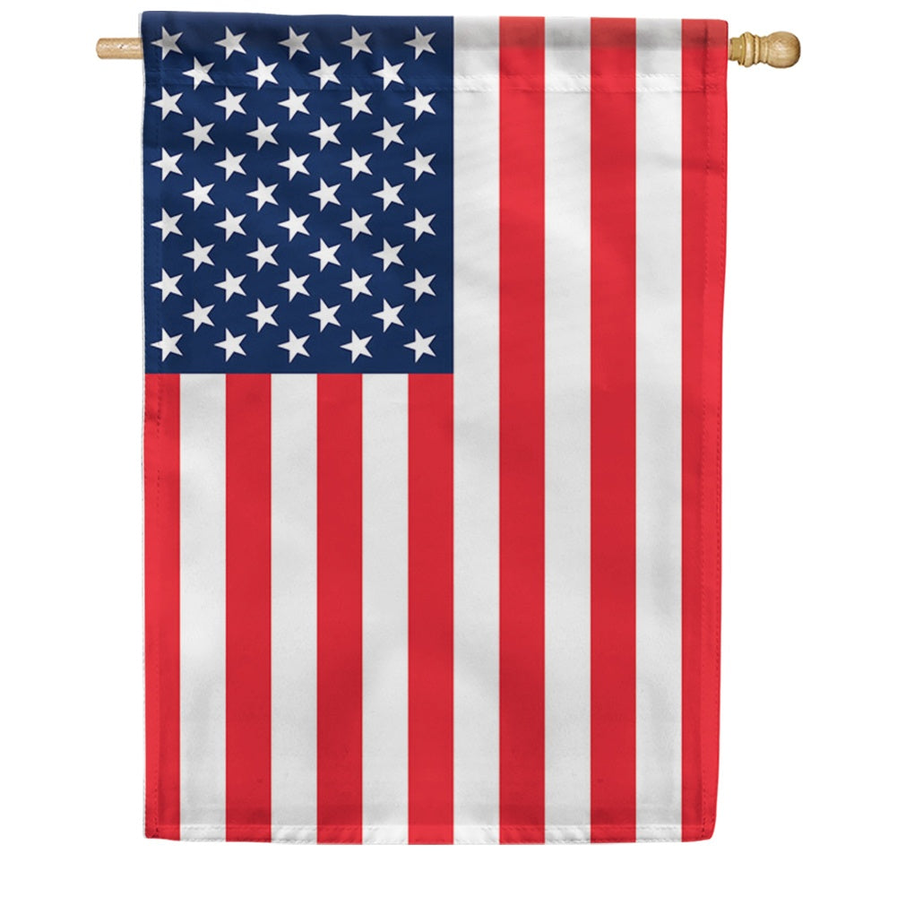 American Flag Double Sided House Flag