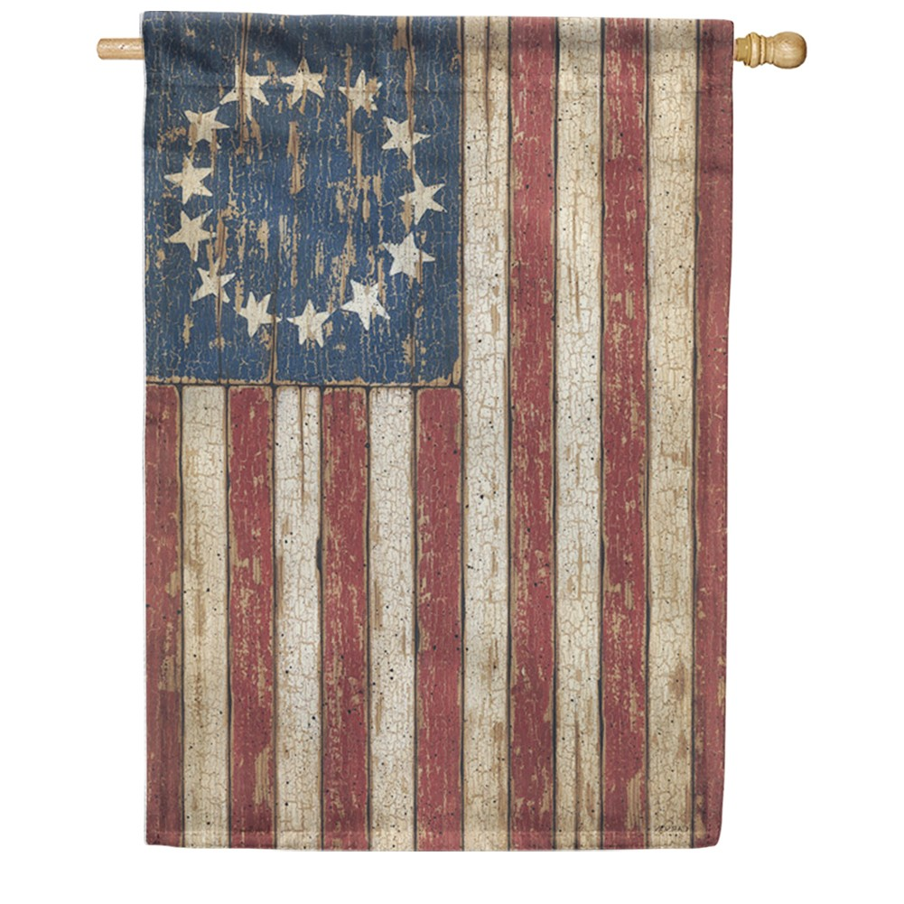 Primitive American Flag Double Sided House Flag