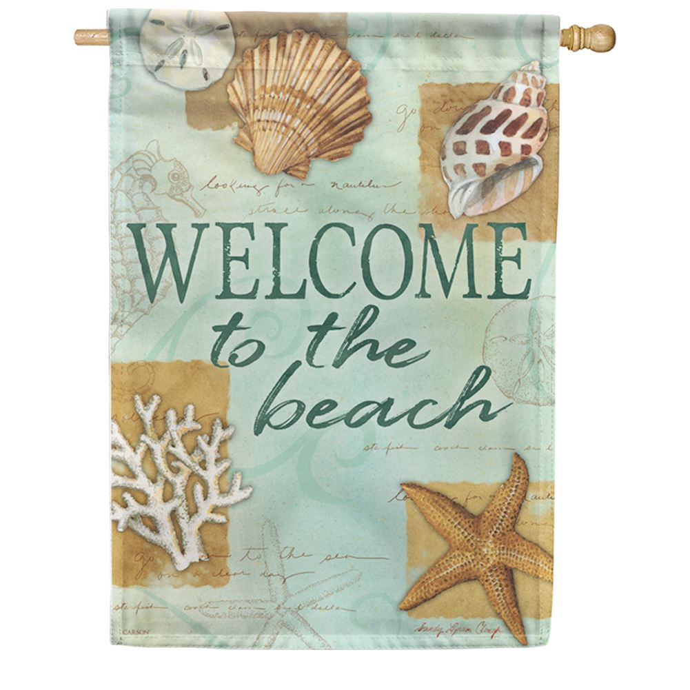 Beach Shells Double Sided House Flag