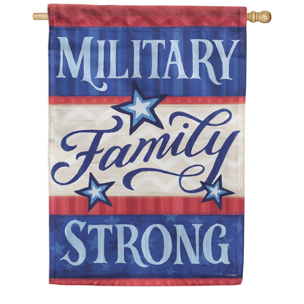 Military Family Double Sided House Flag