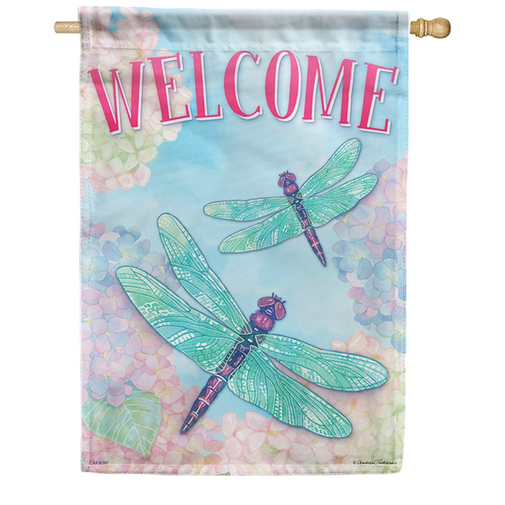 Dragonfly Duo Double Sided House Flag