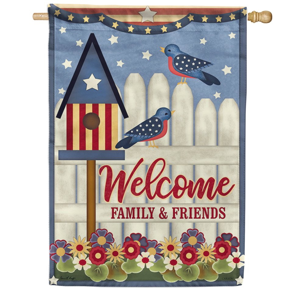 Parade Route Double Sided House Flag
