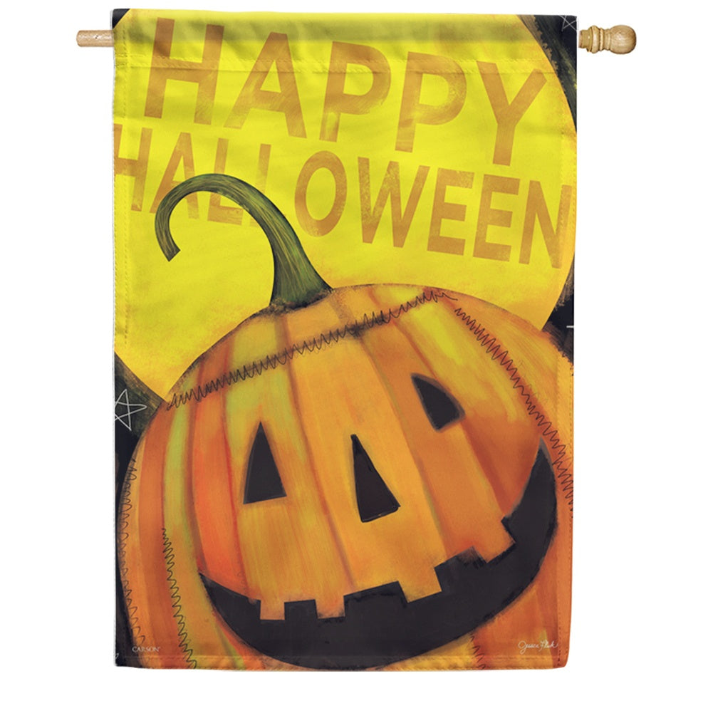 Happy Jack Halloween Double Sided House Flag