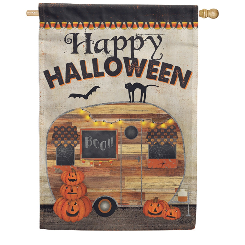 Halloween Camper Double Sided House Flag
