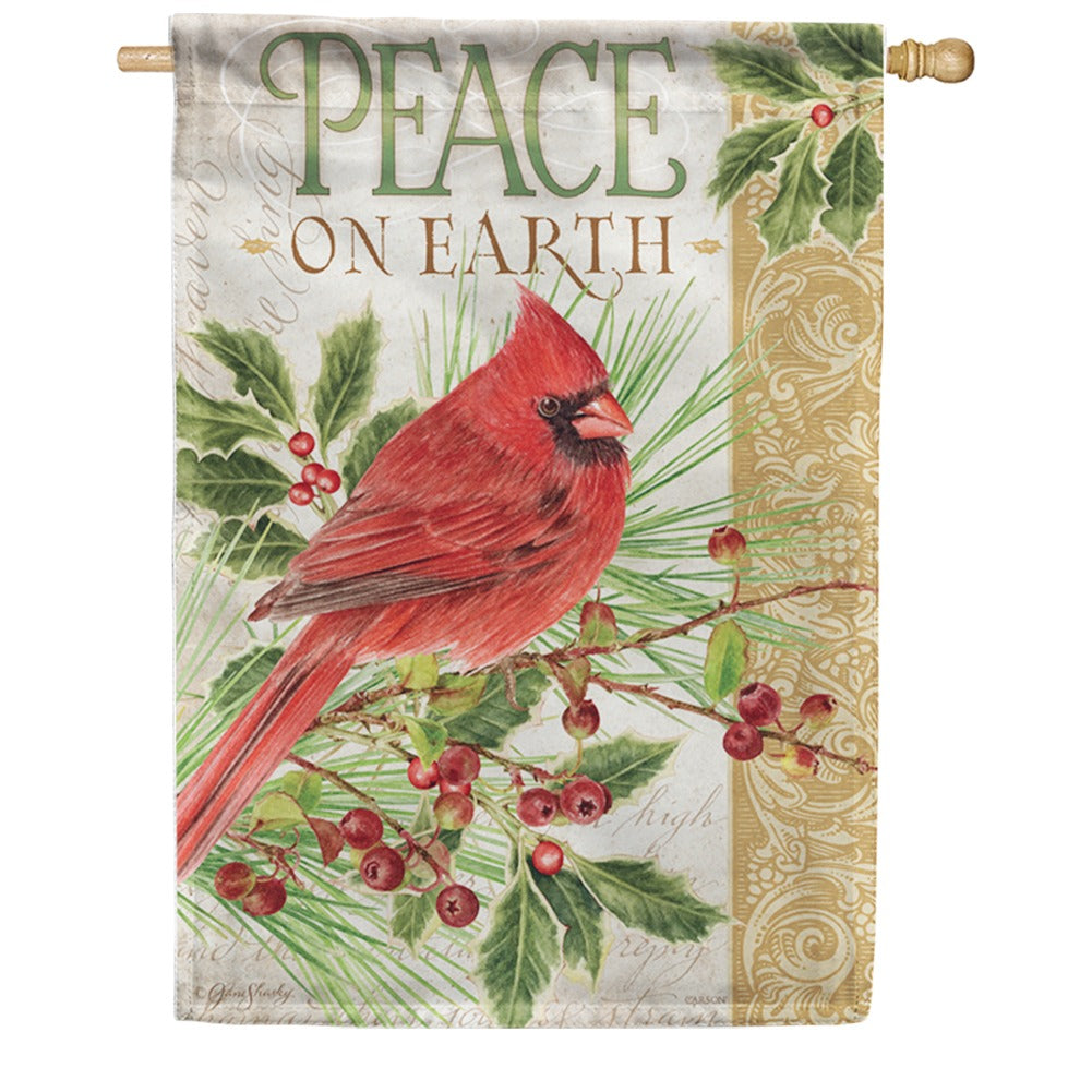 Peace Cardinal Double Sided House Flag