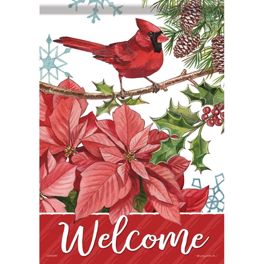 Handsome Cardinal Double Sided House Flag