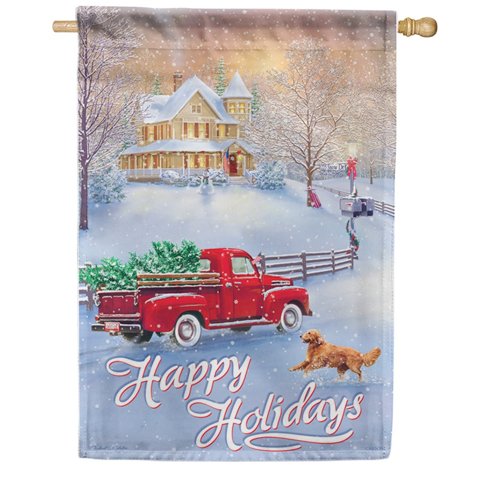 Holidays At Home Double Sided House Flag