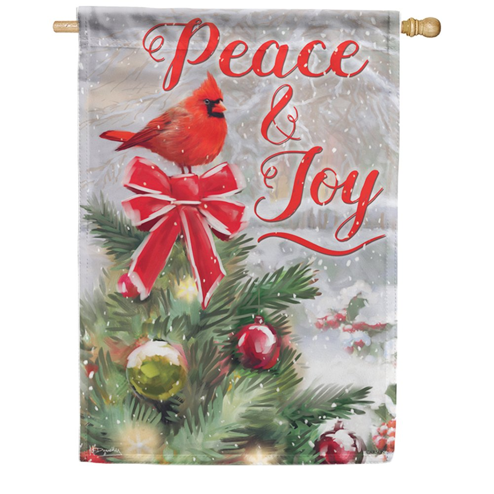 Peace & Joy Double Sided House Flag