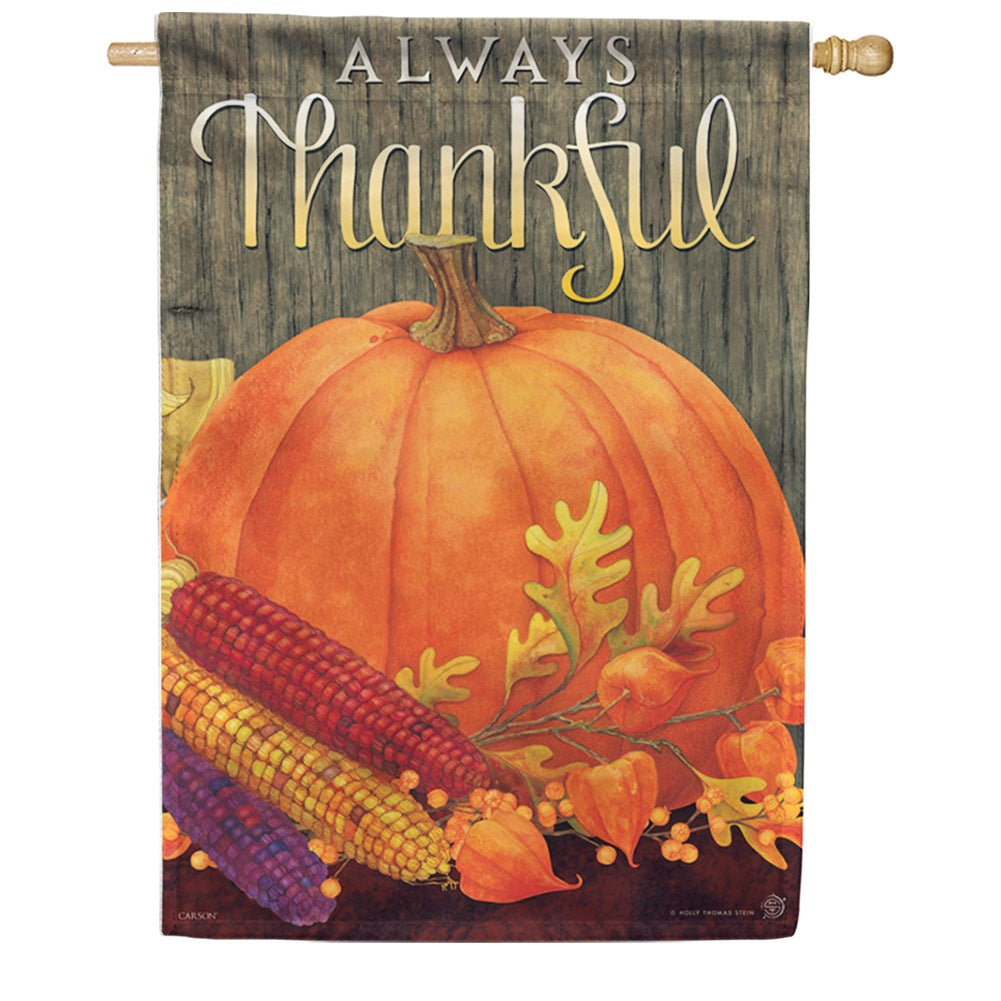 Always Thankful Double Sided House Flag