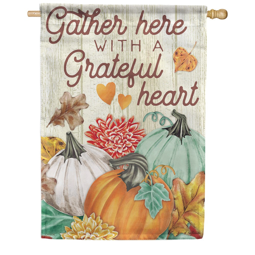 Autumn Trio Double Sided House Flag