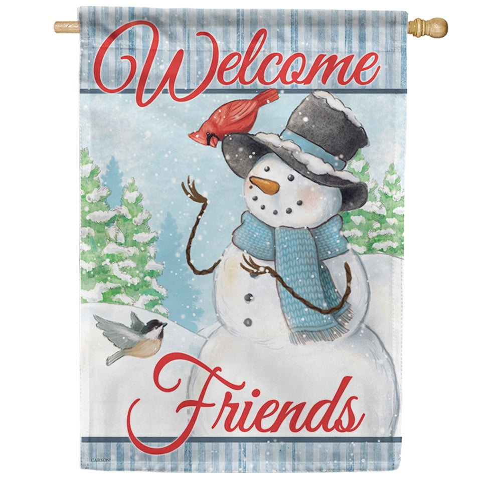 Snowman & Friends House Flag
