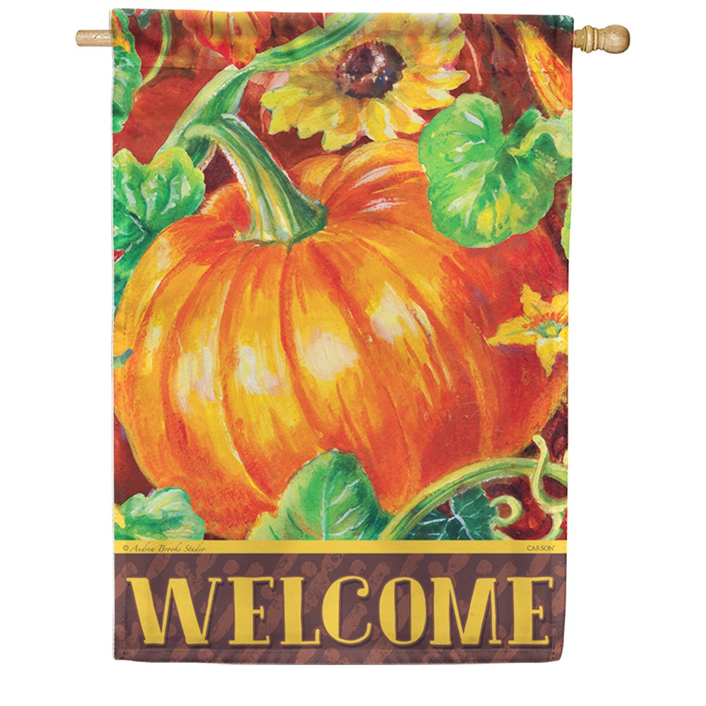 Perfect Pumpkin Double Sided House Flag