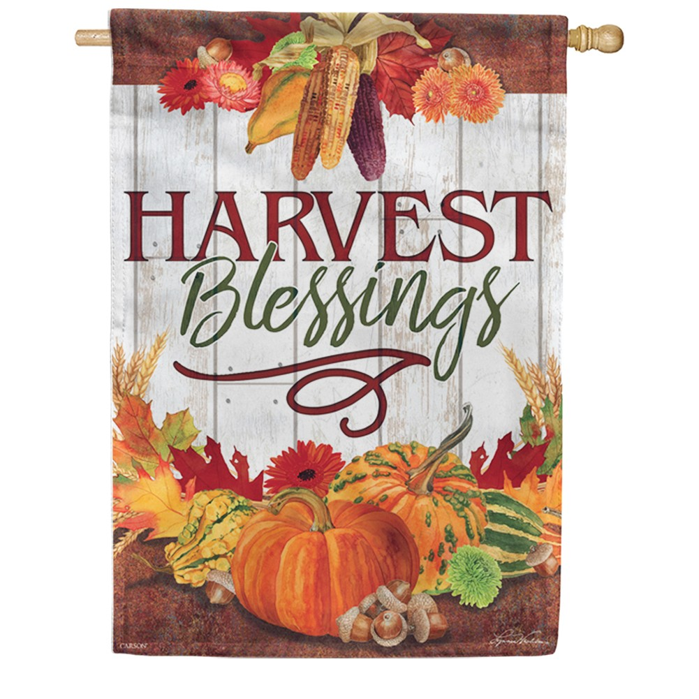 Harvest Blessings Fall Double Sided House Flag