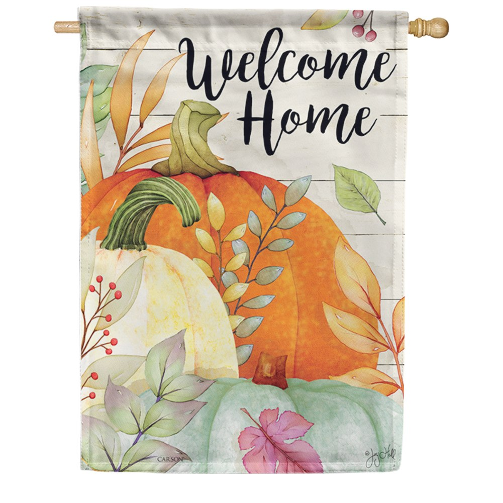 Watercolor Pumpkins Double Sided House Flag