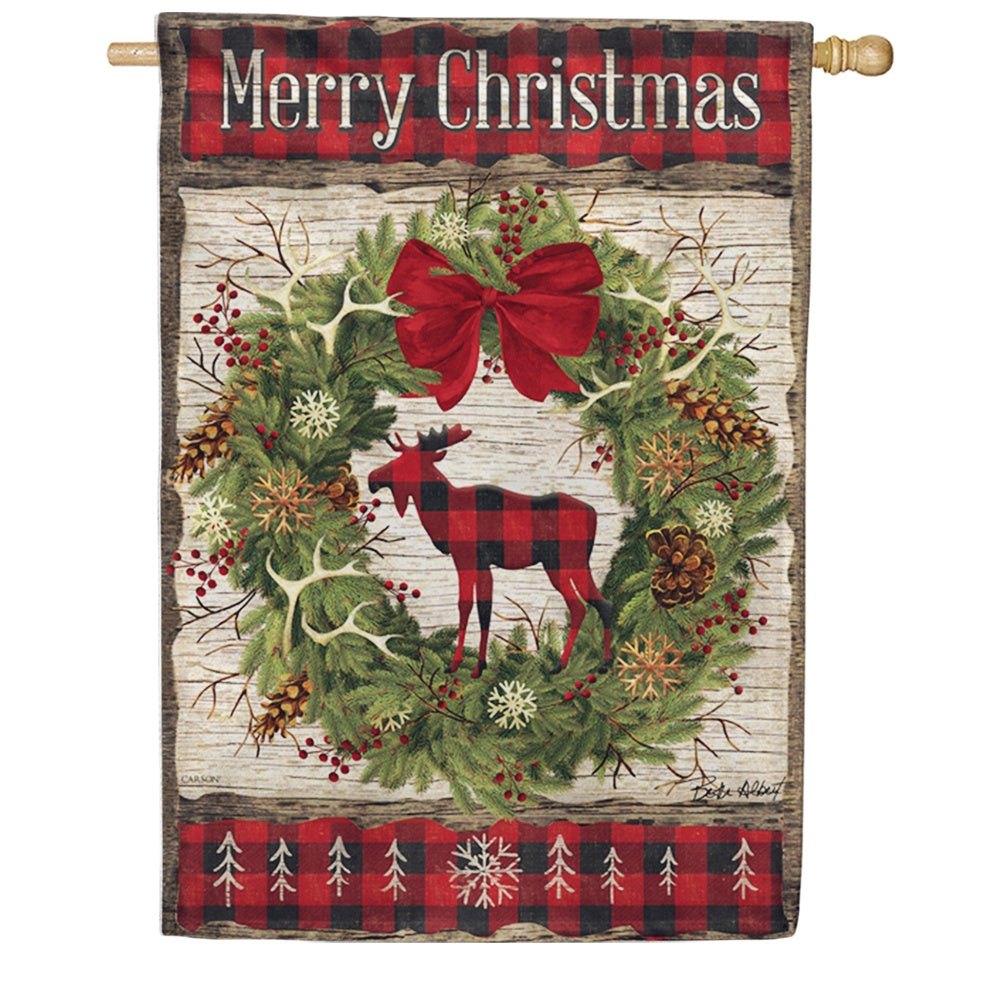 Woodland Christmas Double Sided House Flag