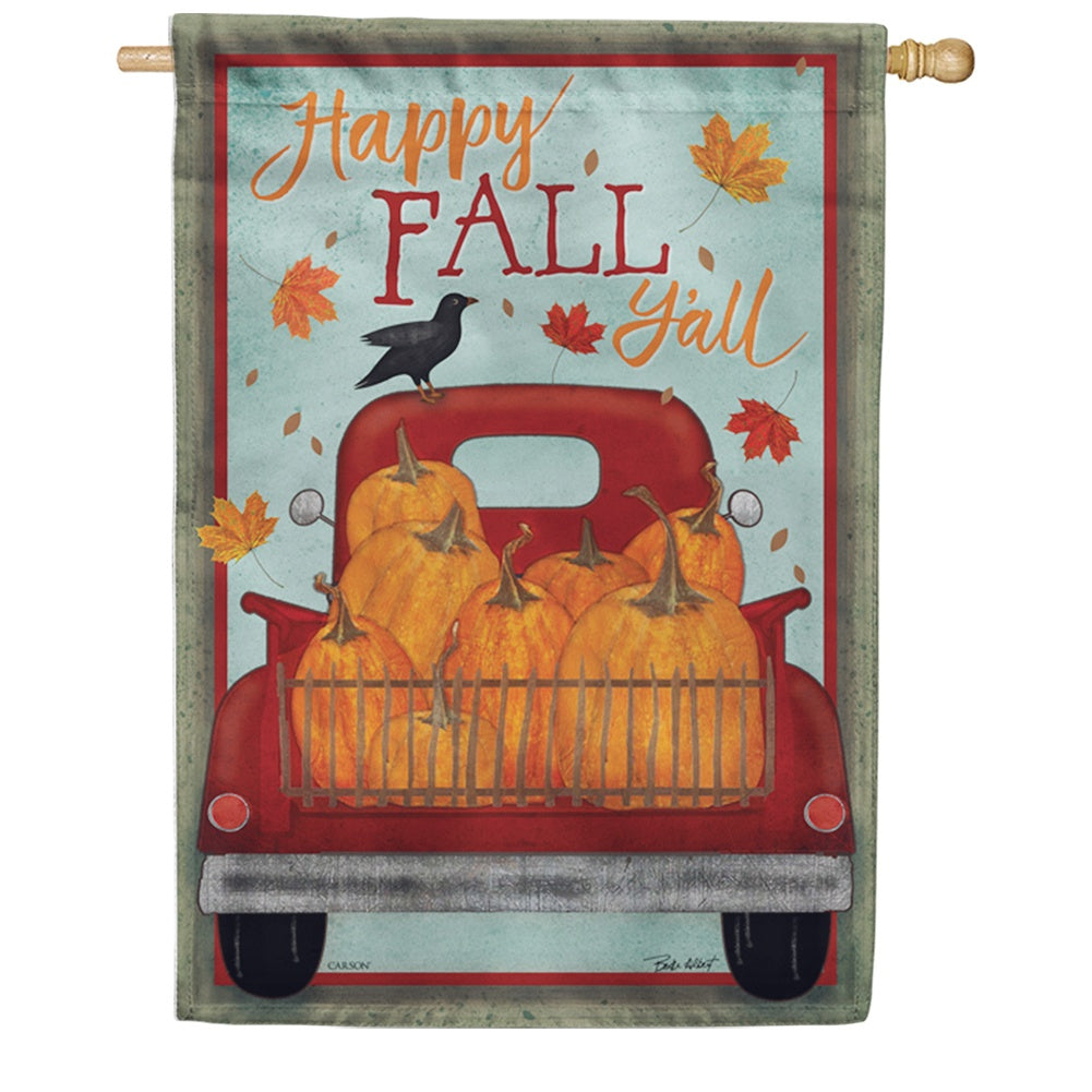 Happy Fall Y All Double Sided House Flag