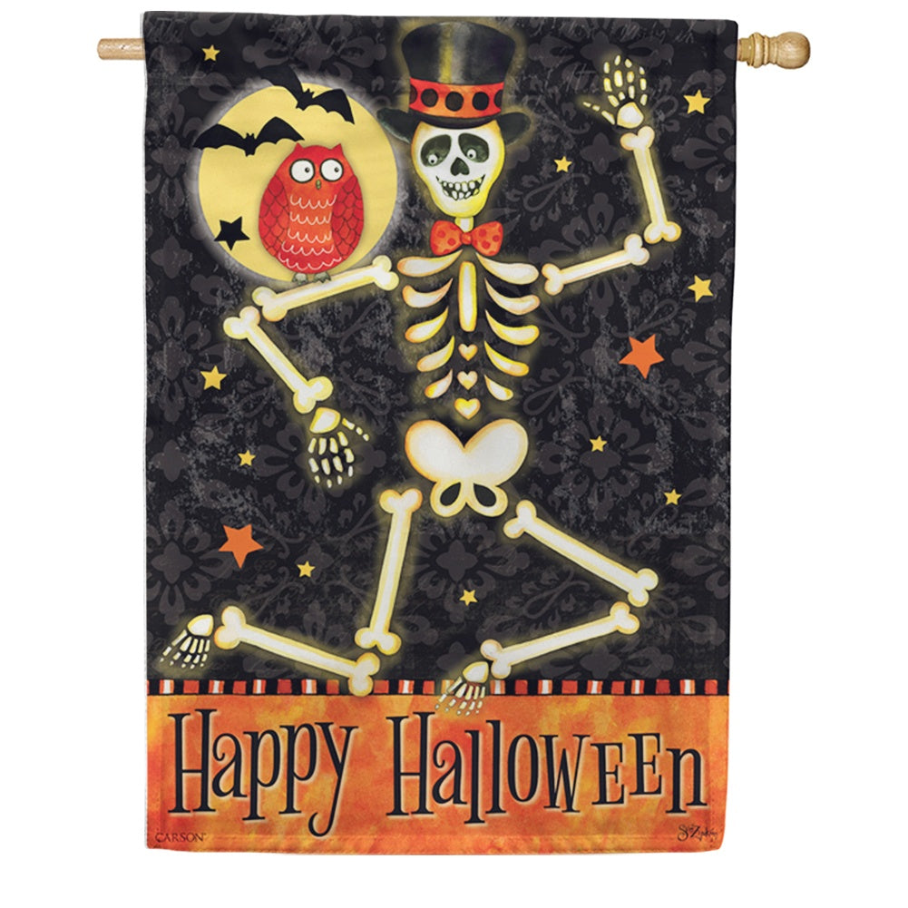 Mr. Bones Double Sided House Flag